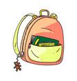 small backpack isolated cartoon kid school bag vector image