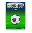 soccer cup poster template with place for vector image vector image