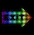 spectrum dot exit arrow icon vector image vector image
