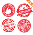 Stamp sticker Limited Edition collection vector image