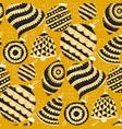 sunny yellow big xmas balls seamless pattern vector image vector image