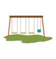 swings playground design vector image vector image