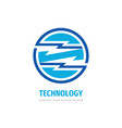 technology concept logo design electronic network vector image vector image