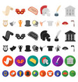 theatrical art cartoon icons in set collection for vector image vector image
