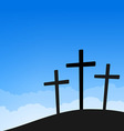Three crosses on blue sky vector | Price: 1 Credit (USD $1)
