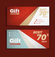 Two coupon voucher design Gift voucher template vector image vector image