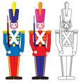 Vintage Happy Toy Soldier vector image vector image