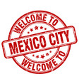 welcome to mexico city vector image vector image