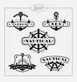 nautical label set vector image