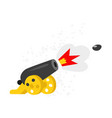 a cartoon cannon flat icon isolated on white vector image