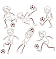 A group of soccer players vector image vector image