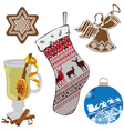 a set of objects representing the new year vector image