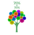 Abctract buttons tree Spring has sprung vector image vector image