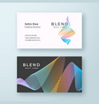 abstract blend wavy business card template vector image vector image