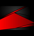 abstract geometric black and red color background vector image vector image