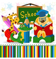 animals in school vector image