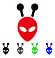 antenna alien head flat icon vector image