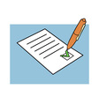 approved document vector image