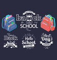 back to school concept black banner vector image