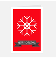 Big snowflake and black ribbon Merry Christmas vector image vector image