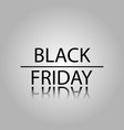 black friday sale black tag advertising round vector image vector image