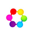 bubble speech group communication icon vector image
