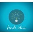 Bulb light fresh idea vector image