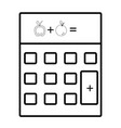 calculator black and white cartoon vector image