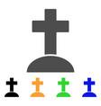 cemetery cross flat icon vector image vector image