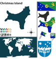 Christmas Island world map vector image vector image
