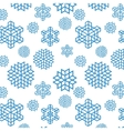 Christmas seamless snowflake vector image vector image