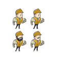 construction mascot character vector image vector image