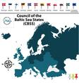 council baltic sea states vector image
