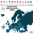 Council of the Baltic Sea States vector image vector image