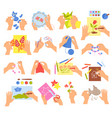 creative kids set vector image
