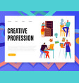 creative professions web banner vector image vector image
