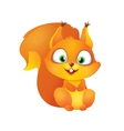 Cute Red Squirrel Smiling vector image