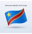 Democratic Republic of the Congo flag waving form vector image vector image
