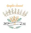 design elements floral elements vector image vector image