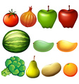 Different fruits vector image vector image