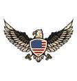eagle with american flag design element vector image vector image