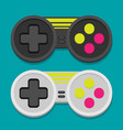 flat joystick icon set vector image vector image