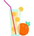 fresh natural eco fruit juice with organic orange vector image vector image