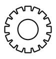 gear support cartoon vector image