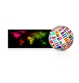 globe from flag vector image vector image