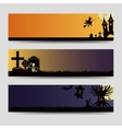 Halloween banners templates set vector image vector image