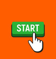 hand mouse cursor clicks the start button vector image