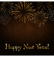 Happy New Year firework background vector image vector image