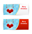 Horizontal Christmas banners vector image vector image