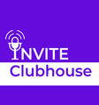 invite to audio chat microphone icon vector image vector image